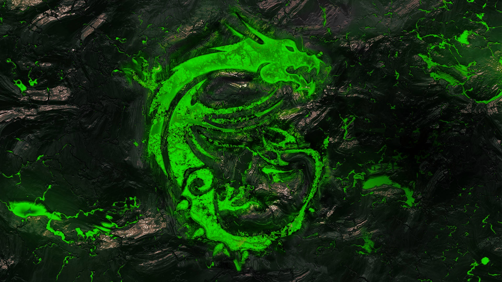 MSI's Desktop Background - Recolored as Razer's Green ...